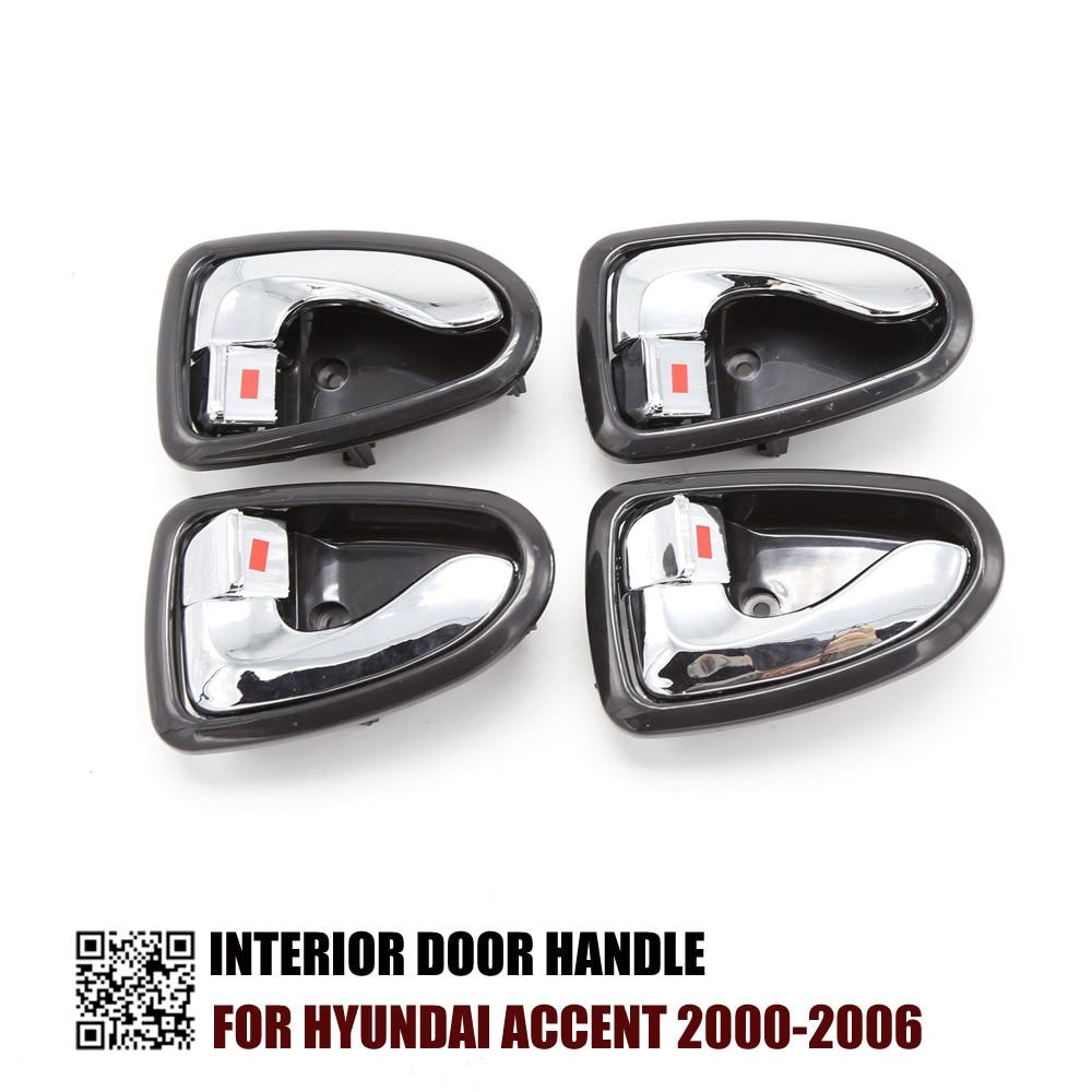 2000 Hyundai Accent Exterior: Inside Door Handle Front Rear Left Right Set 4pcsFOR