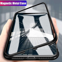 Amzdeal Magnetic Case for iPhone X/XS XR XSMax 7Plus 8Plus Metal Tempered Glass Back Magnet Cases Cover for iPhone 7 8 6 6S Case стоимость