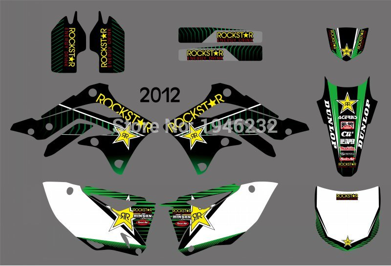 Motorcycle TEAM GRAPHICS DECALS STICKERS for Kawasaki KX450F KXF450 KXF 450 KX 450F 2012 ahl high quality brand new motorcycle accessories throttle line cable wire for kawasaki kxf250 2011 2016 kxf450 2012 2015