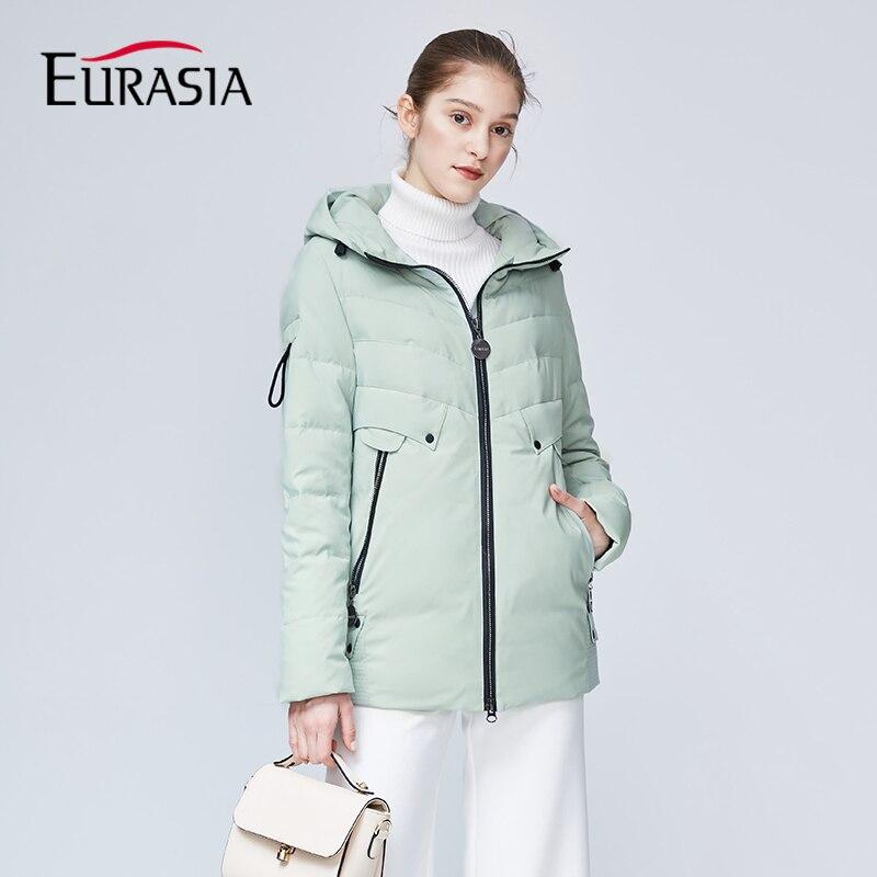 Здесь продается  EURASIA New Brand Hooded Womens Winter Coat Full Jacket Thick Parkas Zipper Sustans Lady Jackets Outerwear Green YD1860  Одежда и аксессуары
