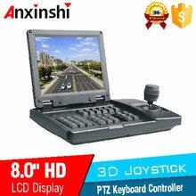 3D Джойстик PTZ контроллер 8 inchLCD аналоговый контроллер клавиатуры PTZ для автомобиля PTZ камера в SDI и CVBS daul вход