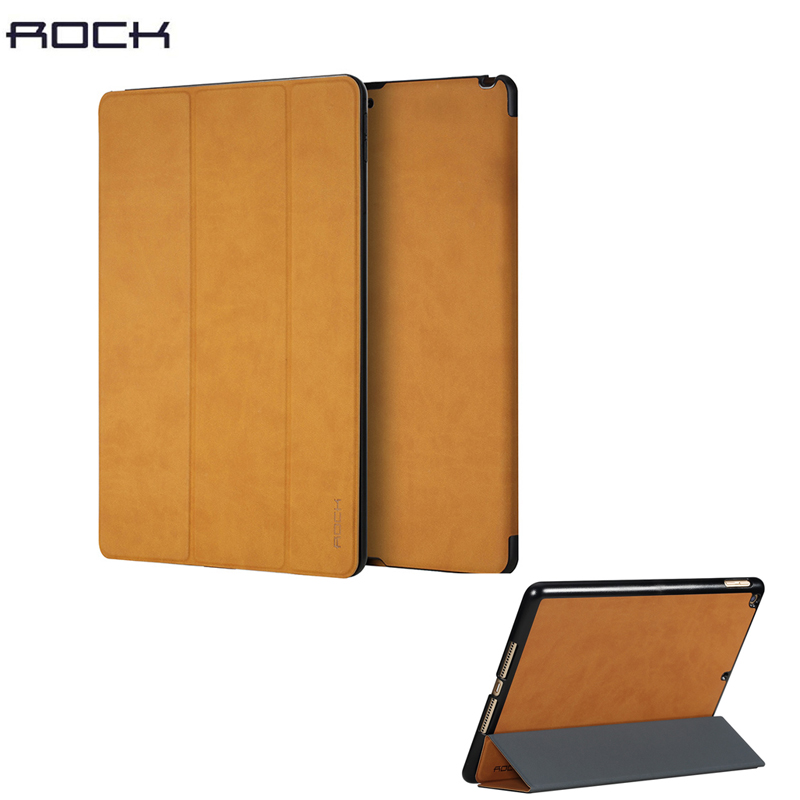 ROCK Uni Series magnetic smart cover for iPad 2017 9.7inch folding folio case with auto sleep / wake up function free shipping free shipping new 10 1 original stand magnetic leather case cover for lenovo ibm thinkpad 10 tablet pc with sleep function