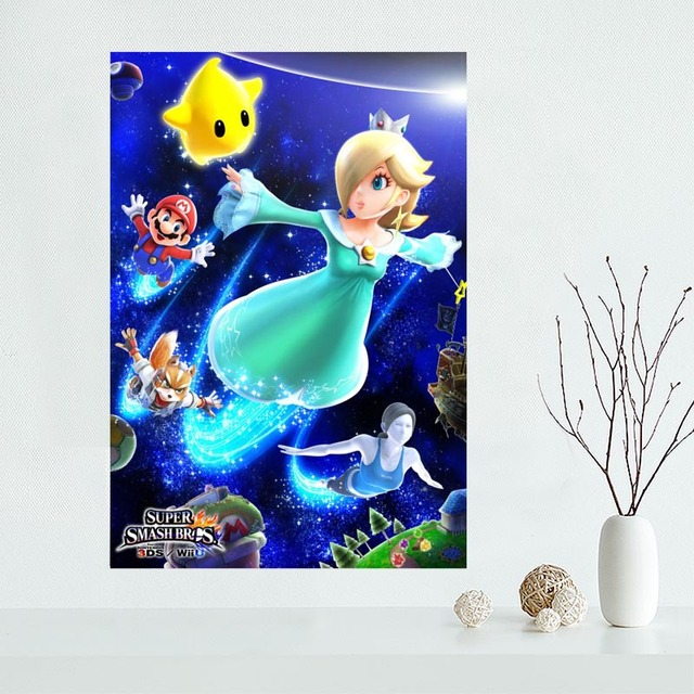 Custom Super Smash Bros Canvas Poster Home Decoration poster cloth fabric Canvas Painting wall poster print 4