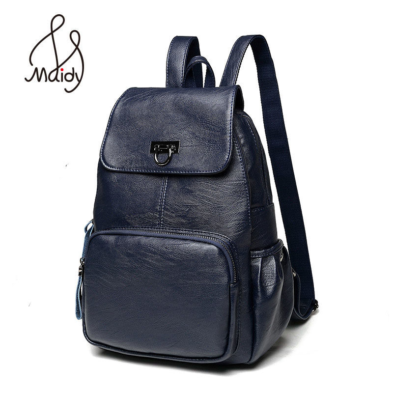 Fashion Genuine Leather Backpack Zipper Women And Shoulder Bags Mochila School Bags Teenagers Preppy Laptop Large