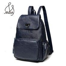 Модные Натуральная кожа рюкзак на молнии и сумки на плечо Mochila Школьные Сумки Подростков опрятный ноутбук большой черный для девочек