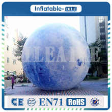 3m/6m Inflatable Moon Giant Balloon LED Satellite Lighting Inflated with Light