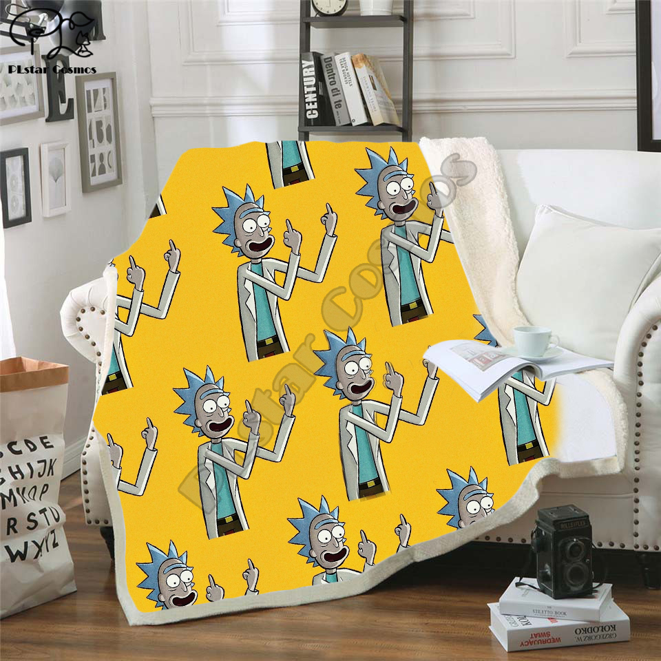 Cartoon Rick and Morty Blanket 3D