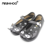 Mini Melissa 2018 Cute Mini Jelly Shoes Kitty Head Children Girl Sandals Soft Comfort Mini Shoes High Quality Girls Sandals(China)