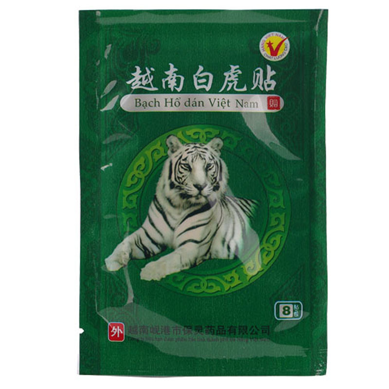 8pcs White Tiger Balm Vietnam Pain Plaster Pain Relief Dehydration Pain Rheumatism Muscle Arthritis Neck Meridians Patch