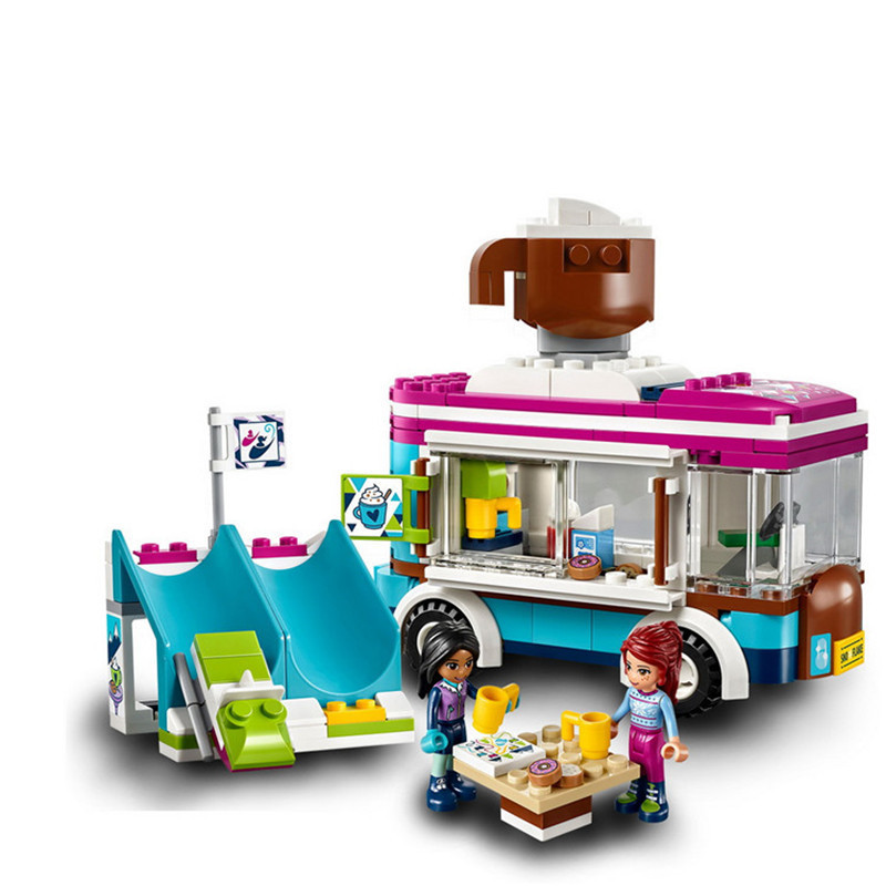 LEPIN Friends Snow Resort Hot Chocolate Van Building Blocks Bricks Classic For Girl Kids Model Toys Marvel Compatible Legoe lepin 01040 friends girl series 514pcs building blocks toys snow resort chalet kids bricks toy girl gifts lepin bricks 41323