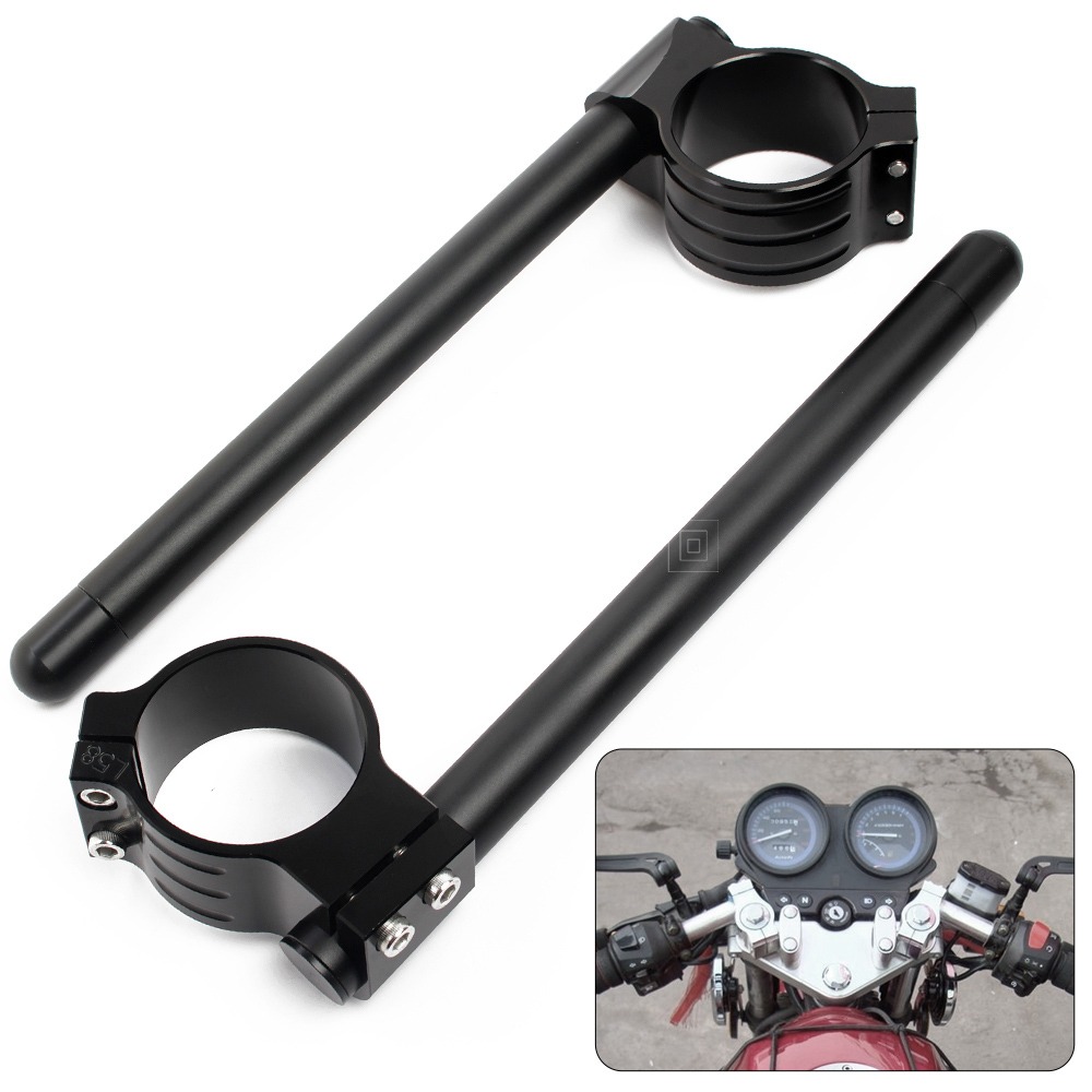 for yamaha yzf r1 r6 Motorcycle 50mm Fork Tube Clip on Handlebar Handlebar for suzuki gsxr 1000 750 600 for kawasaki ZX 6R zx10r