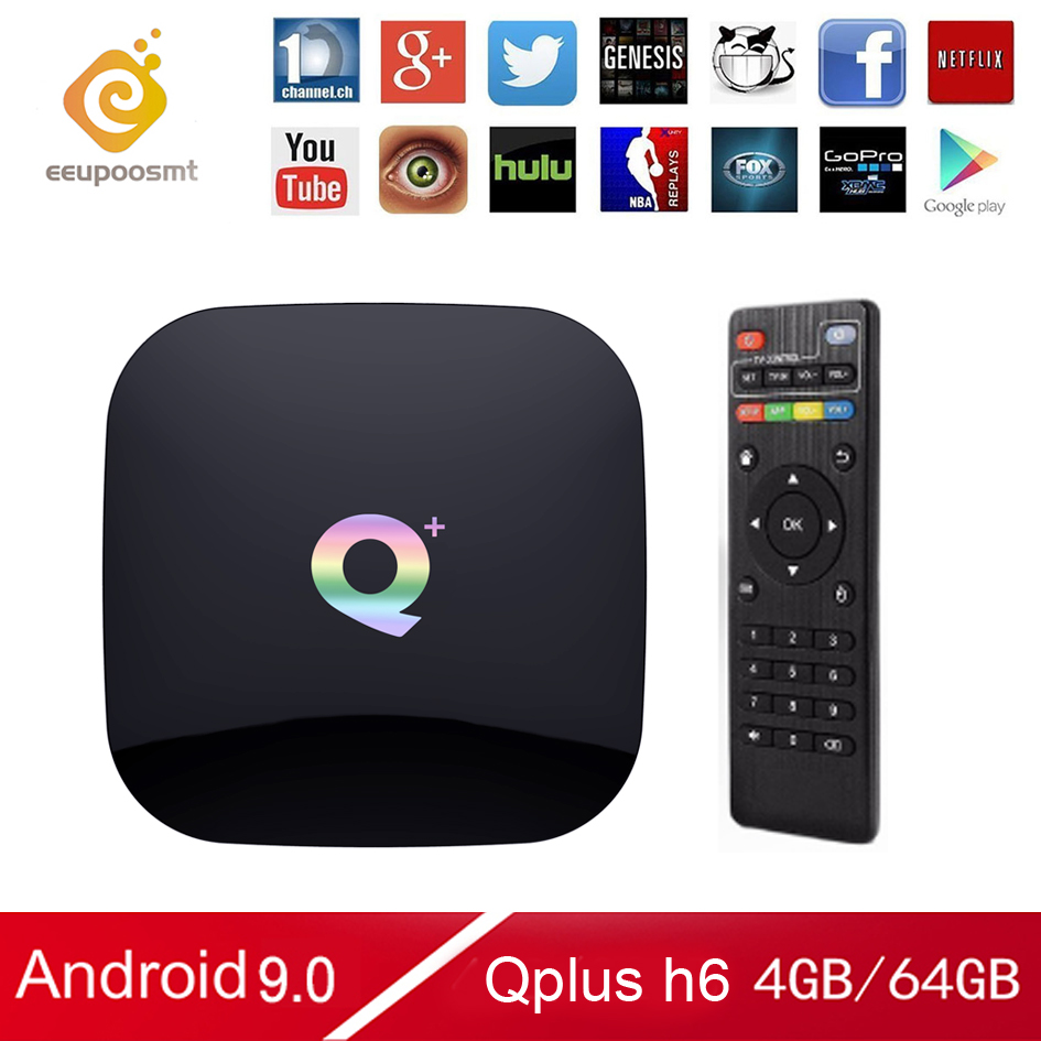 Q Plus Box 64GB Android 9 0 TV Box 4GB 32GB Smart TV Box Allwinner H6