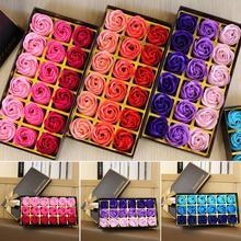 3 цвета 18 шт./кор. моделирование Лавандовое Мыло с подарочной коробкой Для женщин соли для ванн Уайт Мыло для лица ко Дню Святого Валентина подарки на свадьбу, день рождения