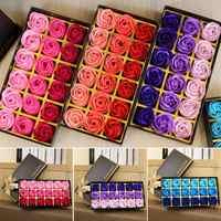 3 farben 18 teile/schachtel Simulation Rose Seife mit Geschenk Box Frauen Mädchen Bad Gesichts Seife Valentinstag Geburtstag Hochzeit geschenke