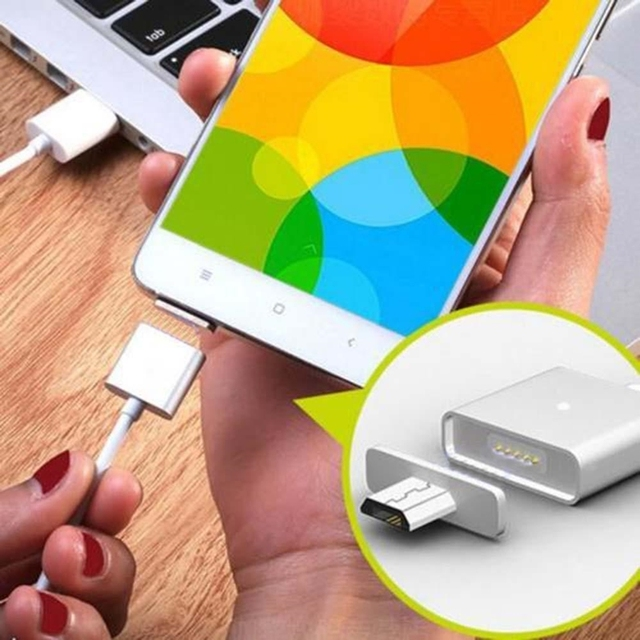 Magnetic 2A Micro USB Cable Charger Data Cable For Samsung LG Google HTC Magnet Phone Charging With Data Transmission for iphone
