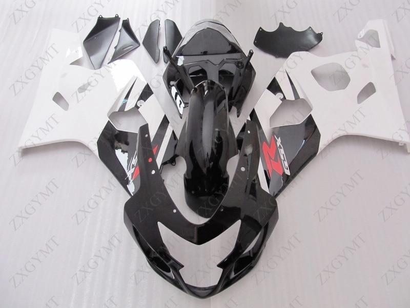 Fairings GSX-R600 2004 - 2005 K4 White Black Abs Fairing GSX R 600 2004 Fairing GSXR 750 04Fairings GSX-R600 2004 - 2005 K4 White Black Abs Fairing GSX R 600 2004 Fairing GSXR 750 04