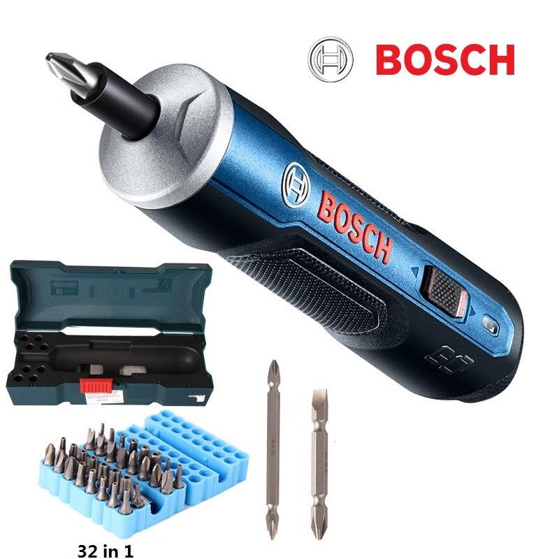 BOSCH GO Mini электрическая отвертка 3,6 В литий-ионный Батарея Перезаряжаемые беспроводные Мощность дрель с сверла комплекты комплект
