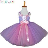 204020aa16caa Princess Rapunzel Inspired Tutu Dress Cinderella Inspired Baby Blue  Birthday Party Tutu Dresses Children Photo Prop