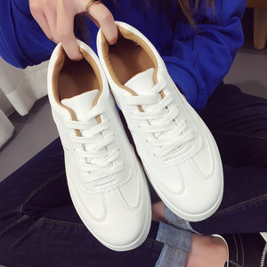 Image 3 - Zapatillas de deporte blancas para mujer, zapatos informales con plataforma, cesta para mujer con aumento de altura, punta redonda, Tenis femeninos, color negro 44
