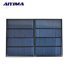 AIYIMA 2Pcs 18V 1 5W Epoxy Solar Panel Cell Photovoltaic Panel Polycrystalline Solar Module DIY Solar