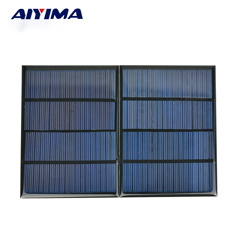 AIYIMA 2Pcs 18V 1.5W Epoxy Solar Panel Cell Photovoltaic Panel Polycrystalline Solar Module DIY Solar Sistem Sun Power Energy