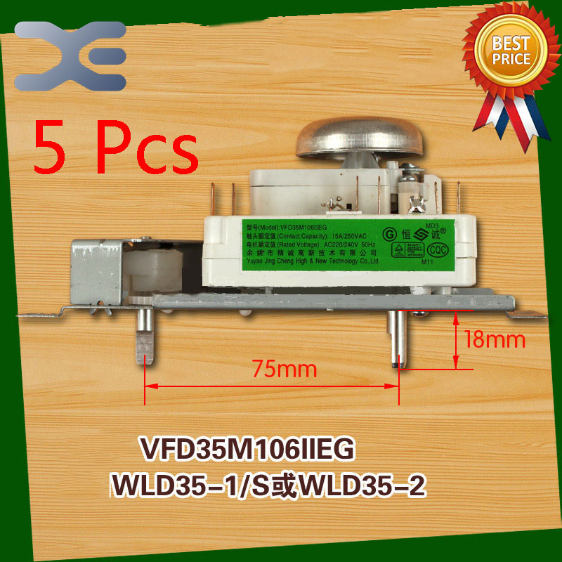 5Pcs Microwave Oven Timer Timer Oven VFD35M106IIEG WLD35-1/S WLD35-2/S Microwave Spare Parts