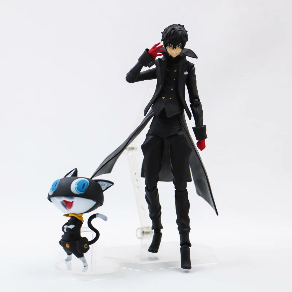 Persona 5 Figma Action Figure – Shujinkou and Morgana Joker Ver. Model Toy