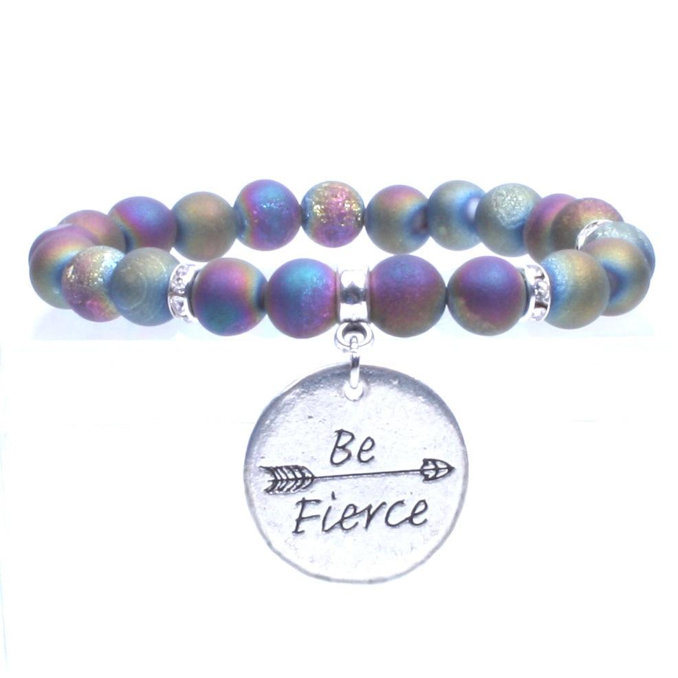Titanium Rainbow Quartz crystal beads Bracelet Rhinestones ... Quartz Crystal Beads