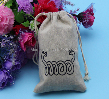 100pcs/lot CBRL  jute/linen/flax drawstring bags&pouch for ornament/nuts/cereasl,Various colors,size customized,wholesale
