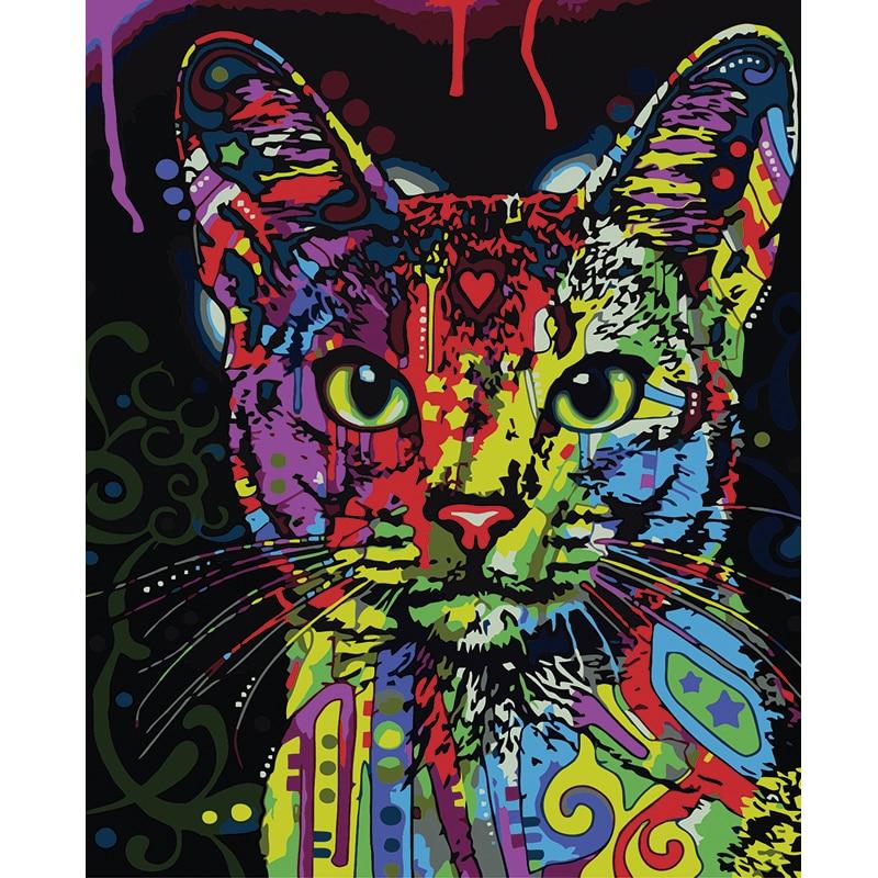 Pintura sin marco por números resumen animal colección decoración de ...