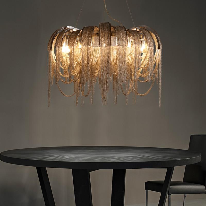 Yeni Tasarım İtalya Alüminyum Zincir Püskül Kolye Işıkları - İç Mekan Aydınlatma - Fotoğraf 4