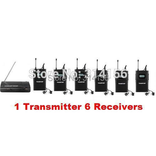 Takstar wpm 200/ wpm200 UHF Wireless Monitor System In Ear Stereo Wireless Headset Stage monitors 1 Transmitter + 6 Receivers-in Earphones from Consumer Electronics    1