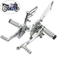 Motorcycle Motocross Racing Foot Peg Adjustable Rearset Rear Set Footrest For Suzuki GSXR 1000 2005 2006