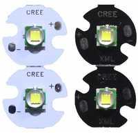 2 PCS CREE XML XM-L T6 LED U2 10 W Bianco Freddo Bianco Caldo di Alto Potere LED Emettitore Diodo con 12 millimetri 14 millimetri 16 millimetri 20 millimetri PCB per il FAI DA TE