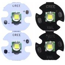 2 pièces CREE XML XM L T6 LED U2 10W, blanc chaud, blanc chaud, haute puissance, LED émetteur, Diode 12mm 14mm 16mm 20mm PCB pour bricolage