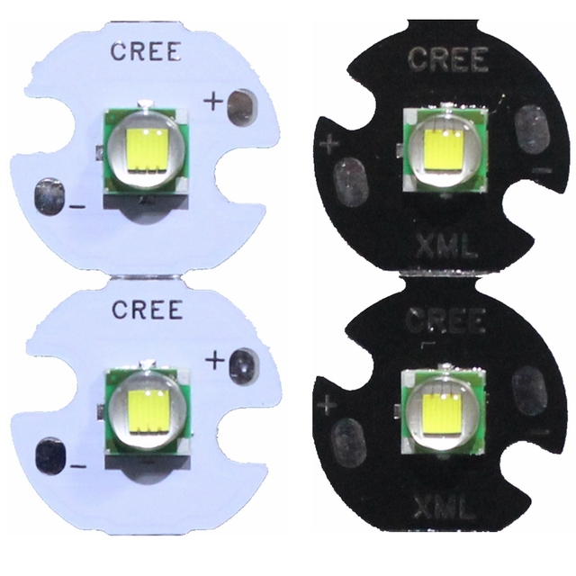 2PCS CREE XML XM L T6 LED U2 10W Cold White Warm White High Power LED Emitter Diode with 12mm 14mm 16mm 20mm PCB for DIY