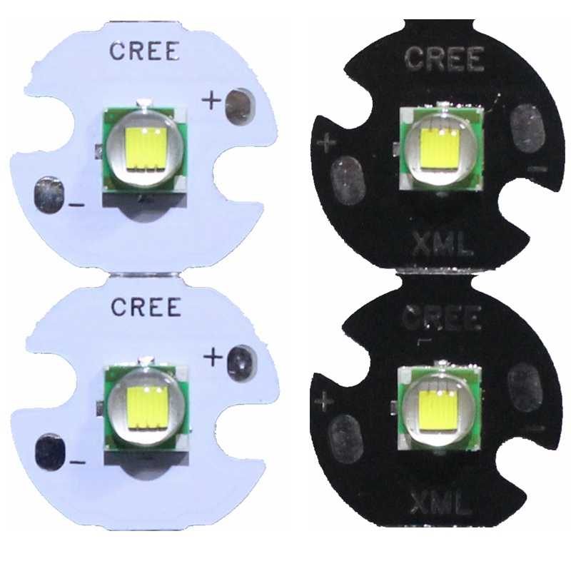 2PCS CREE XML XM-L T6 LED U2 10W Cold White Warm White High Power LED Emitter Diode with 12mm 14mm 16mm 20mm PCB for DIY