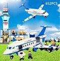 Bloque de construcción del aeropuerto internacional caliente jumbo Boeing modelo de pasajeros piloto personal ladrillos compatibles legoeinglys. juguete de la ciudad