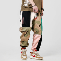 2019 Summer Plus Size Camo Harem Pants Men Splice Fashion Classic Joggers Cargo Hip Hop Multi Colors Homme Army Pants Pocket