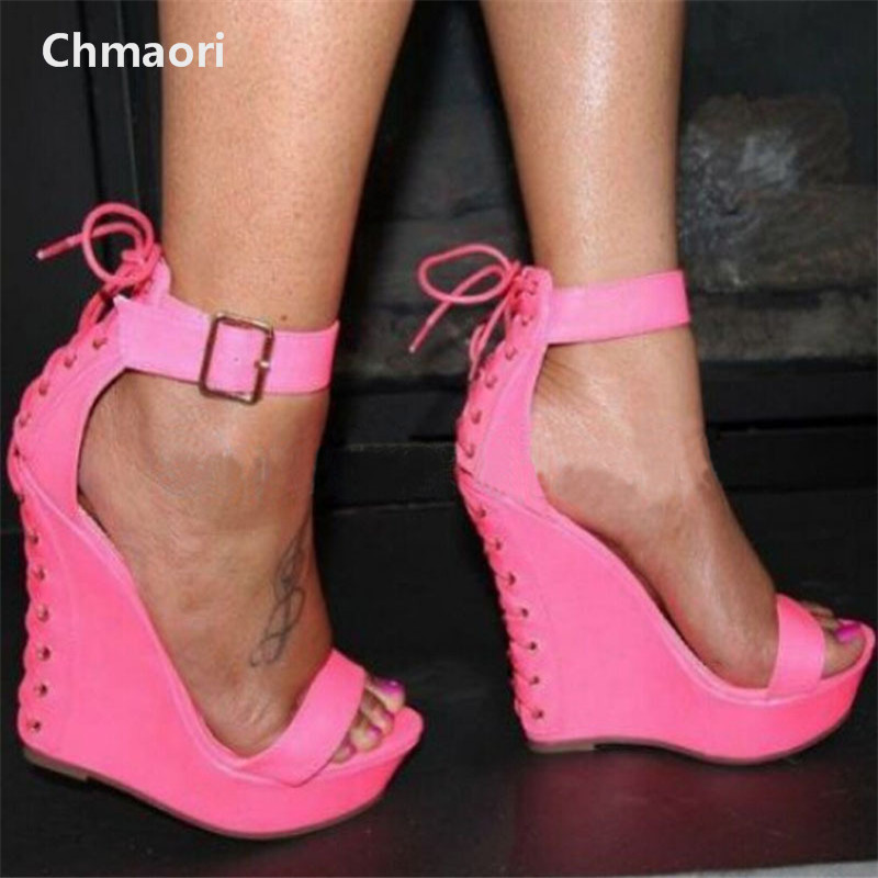 sweet girl ankle buckle strap wedge heel gladiator sandal shoes woman open toe back lace up party dress sheos young girl s black suede open toe lace up ankle sandal boots stiletto heel fringe dress shoes braid embellished party shoes