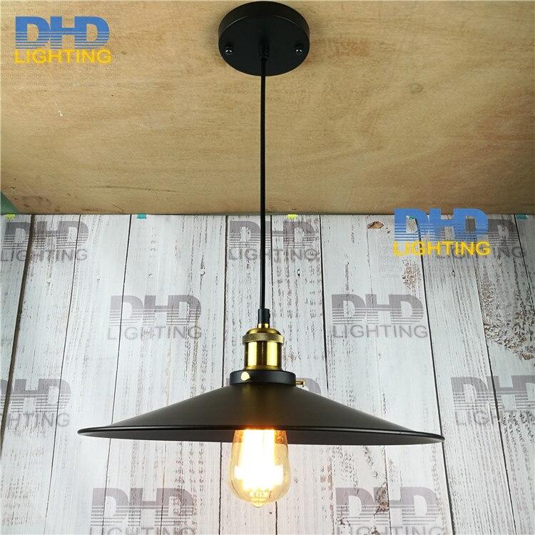 ФОТО (10pcs/lot)wholesales black iron shade Edison lighting vintage E27 aluminum socket pendant lamp industrial filament lamp fixture