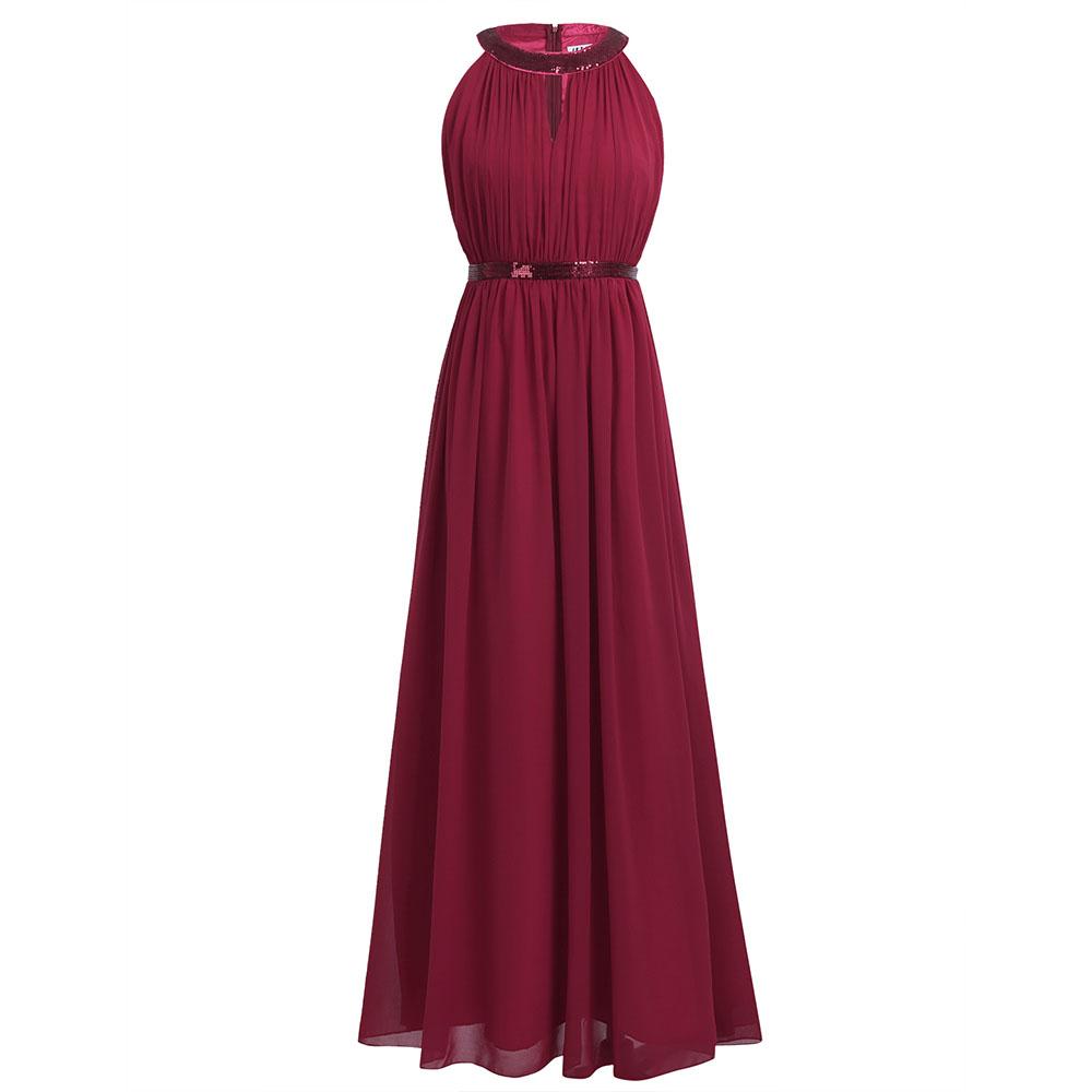 0c561de8288 Maxi Women IEFiEL Women Ladies Prom Gown Hollow Out Maxi Es Formal ...
