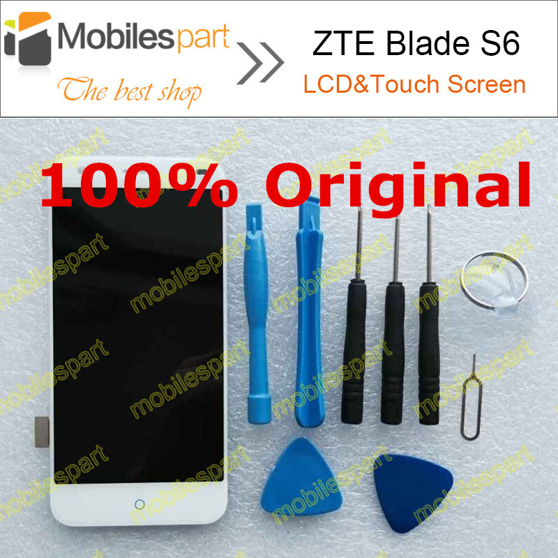 ZTE Blade S6 LCD Screen 100% Original LCD Display +Touch Screen Assembly Replacement For ZTE Blade S6 Smartphone Free Shipping
