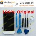 ZTE Blade S6 ЖК-Экран 100% Оригинал ЖК-Дисплей + Сенсорный Экран Замена Тяга Для ZTE Blade S6 Смартфон Бесплатная Доставка