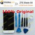 Zte blade s6 tela lcd 100% display lcd original + montagem da tela de toque de substituição para zte blade s6 smartphone frete grátis