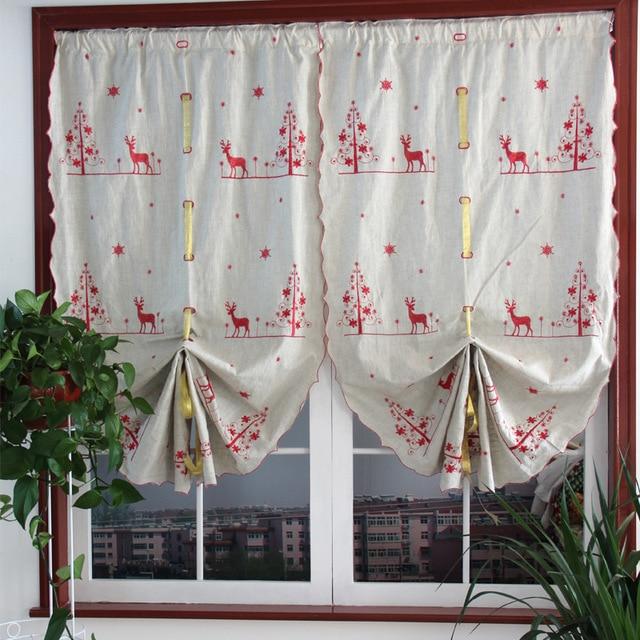 Weihnachten Amerikanischen Retro Windmühle Baumwolle Mirage Vorhang ...