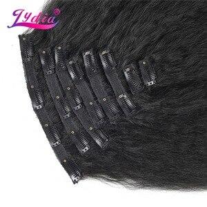 Image 3 - Lydia 8 teile/satz 18 Clips In Haar Haarteile 16 20 Inch Verworrene Gerade Lange Synthetische Wärme Beständig Haar Extensions bundles