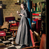 New High Quality Explosions Leisure Elegant  Dresses  Women  sashes spring Casual Shirt Dress 1