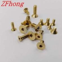 20-50 шт./лот DIN7991 M3 M4 M5 медный шестигранник с потайной головкой с шестигранной головкой шестигранный болт