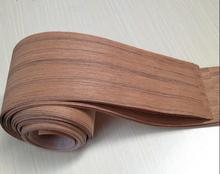 11.11 Promotion Length: 2.5 meters thickness:0.25mm Width: 12cm Natural Teak veneer Speaker leather hand solid wood